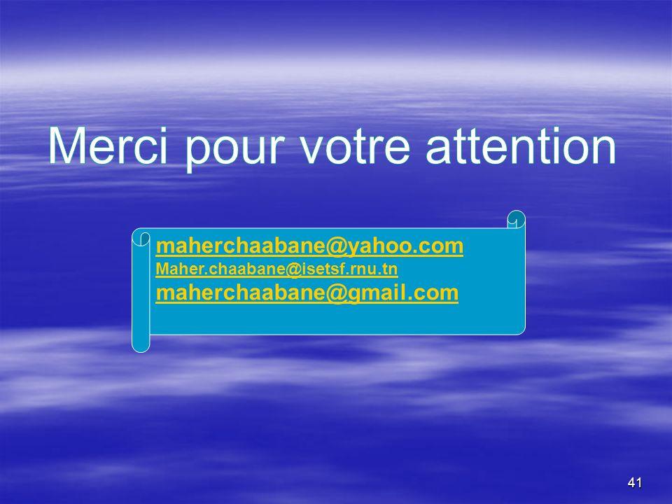 41 maherchaabane@yahoo.com Maher.chaabane@isetsf.rnu.tn maherchaabane@gmail.com