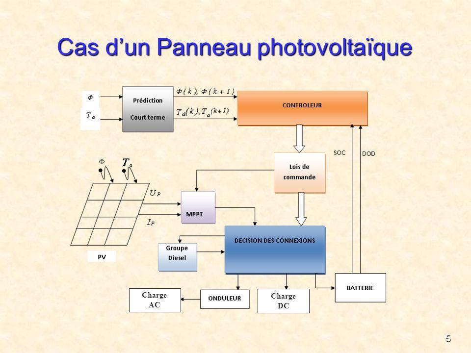 5 Cas dun Panneau photovoltaïque Charge AC Charge DC