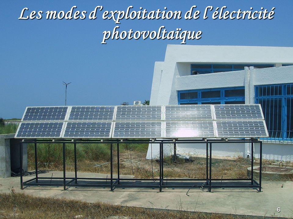 7 Caractéristiques dun capteur photovoltaïque Schéma équivalent dune cellule PV Schéma dun panneau PV