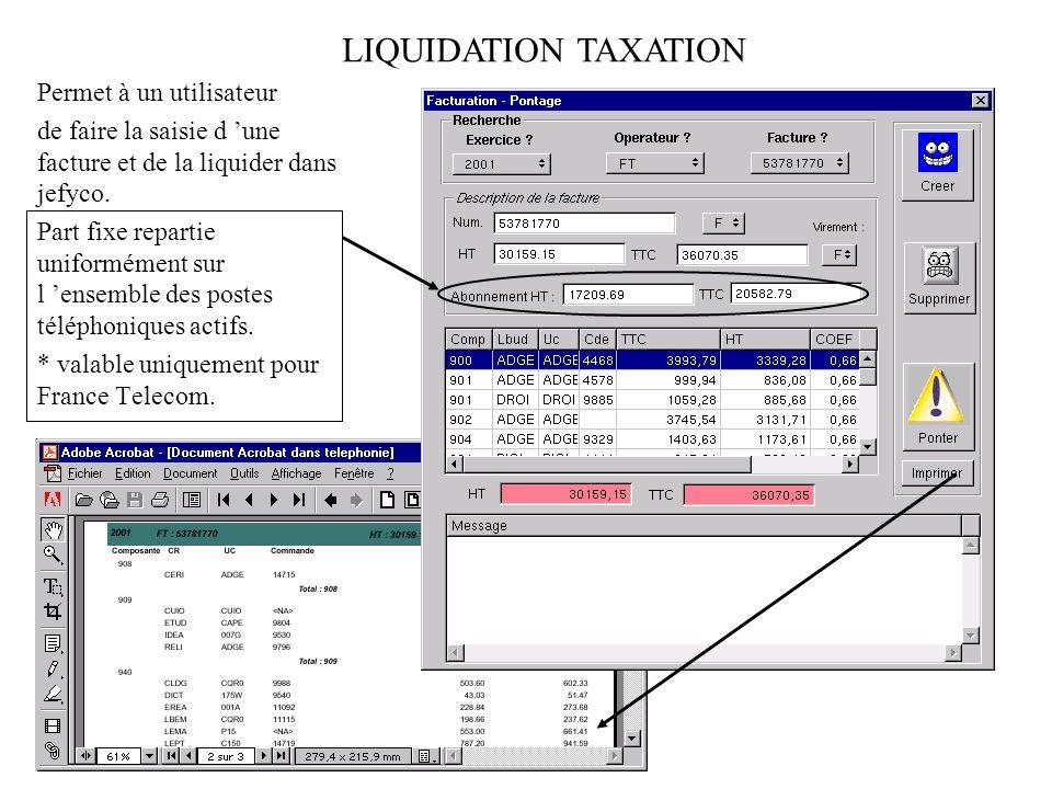 Permet déditer une estimation de la facturation par numéro et centre de coût. IMPRESSIONS