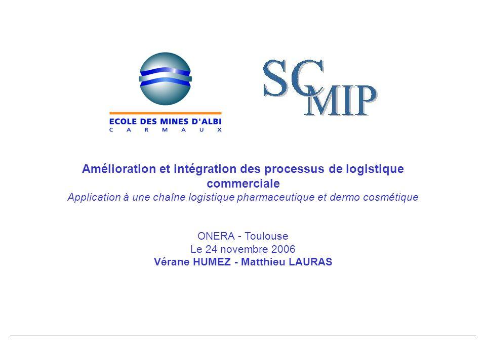 Amélioration et intégration des processus de logistique commerciale Application à une chaîne logistique pharmaceutique et dermo cosmétique ONERA - Tou