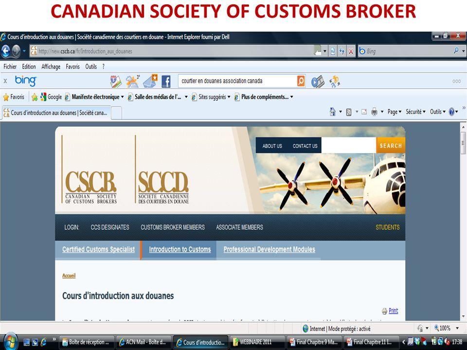 CANADIAN SOCIETY OF CUSTOMS BROKER
