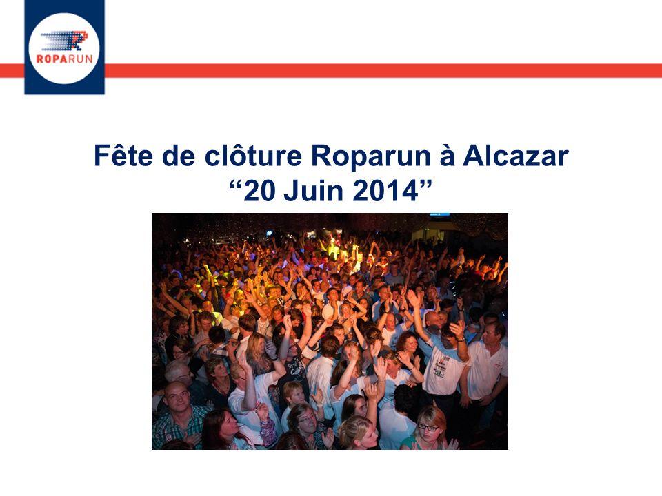 Fête de clôture Roparun à Alcazar 20 Juin 2014