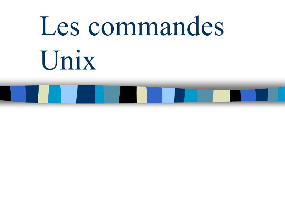 Les commandes Unix