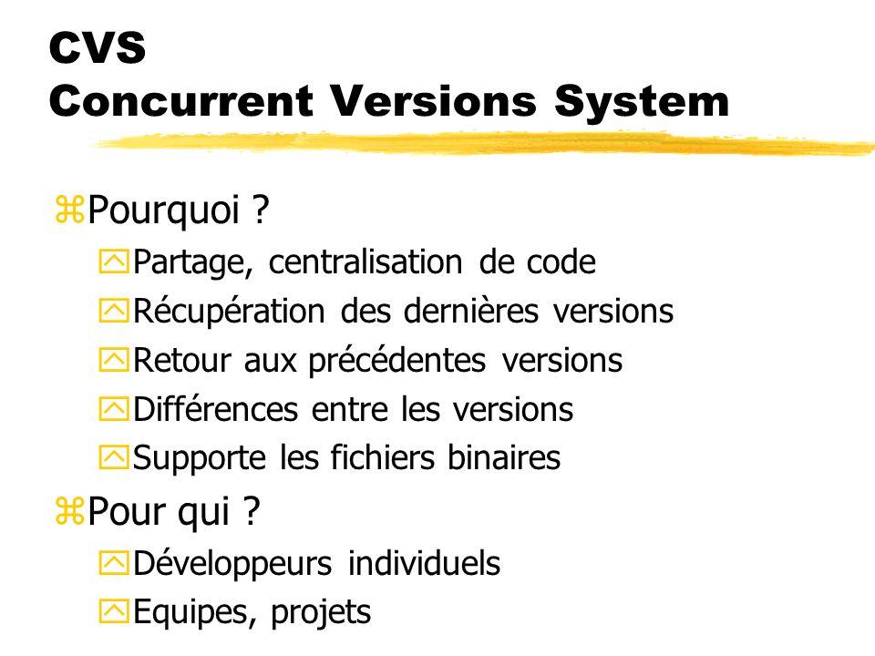 CVS Concurrent Versions System zPourquoi .