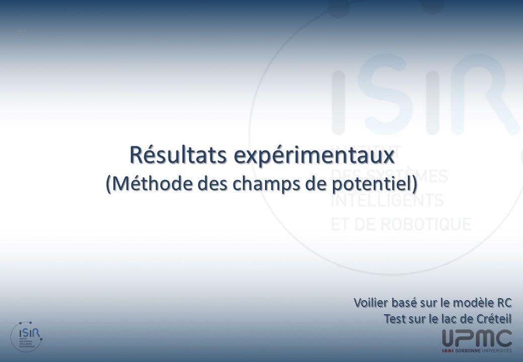 Résultats expérimentaux (Méthode des champs de potentiel) 62 Voilier basé sur le modèle RC Test sur le lac de Créteil