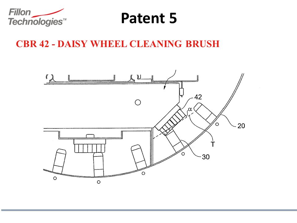 CBR 42 - DAISY WHEEL CLEANING BRUSH Patent 5