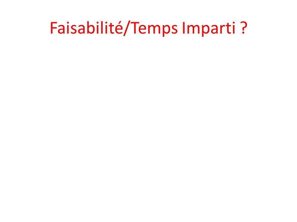 Faisabilité/Temps Imparti ?
