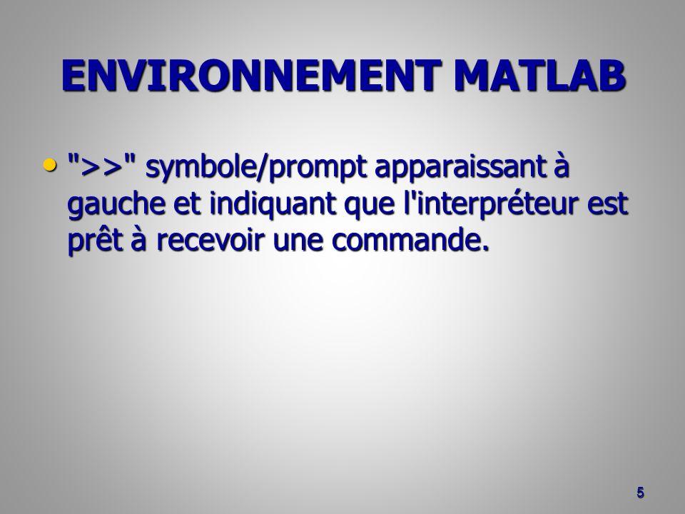 >> symbole/prompt apparaissant à gauche et indiquant que l interpréteur est prêt à recevoir une commande.