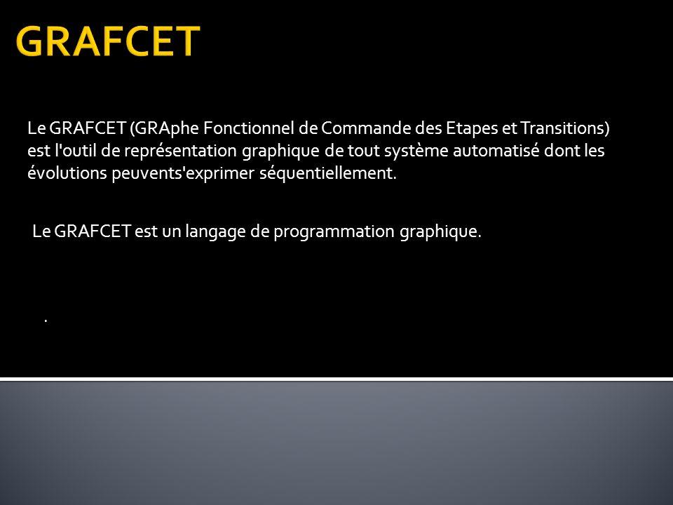 Le GRAFCET (GRAphe Fonctionnel de Commande des Etapes et Transitions) est l outil de représentation graphique de tout système automatisé dont les évolutions peuvents exprimer séquentiellement.