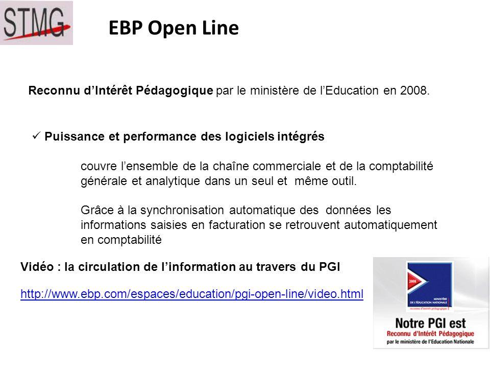 EBP Open Line Reconnu dIntérêt Pédagogique par le ministère de lEducation en 2008.