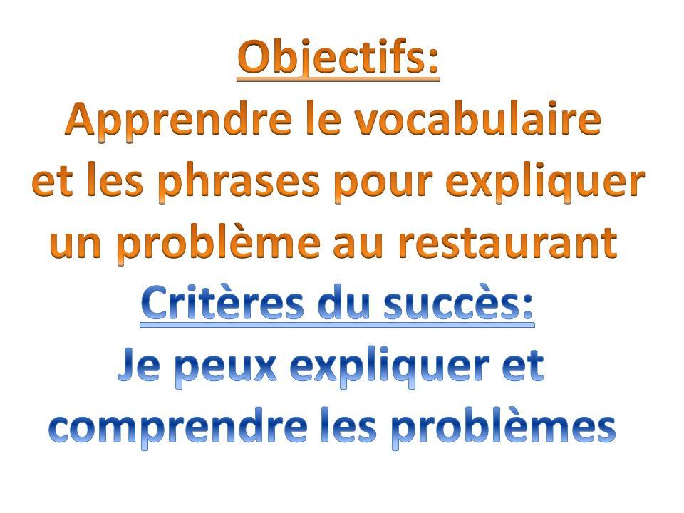 Boardworks, Key Stage 4 Bon Appétit, slides 8 and 10
