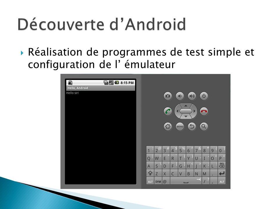 Réalisation de programmes de test simple et configuration de l émulateur