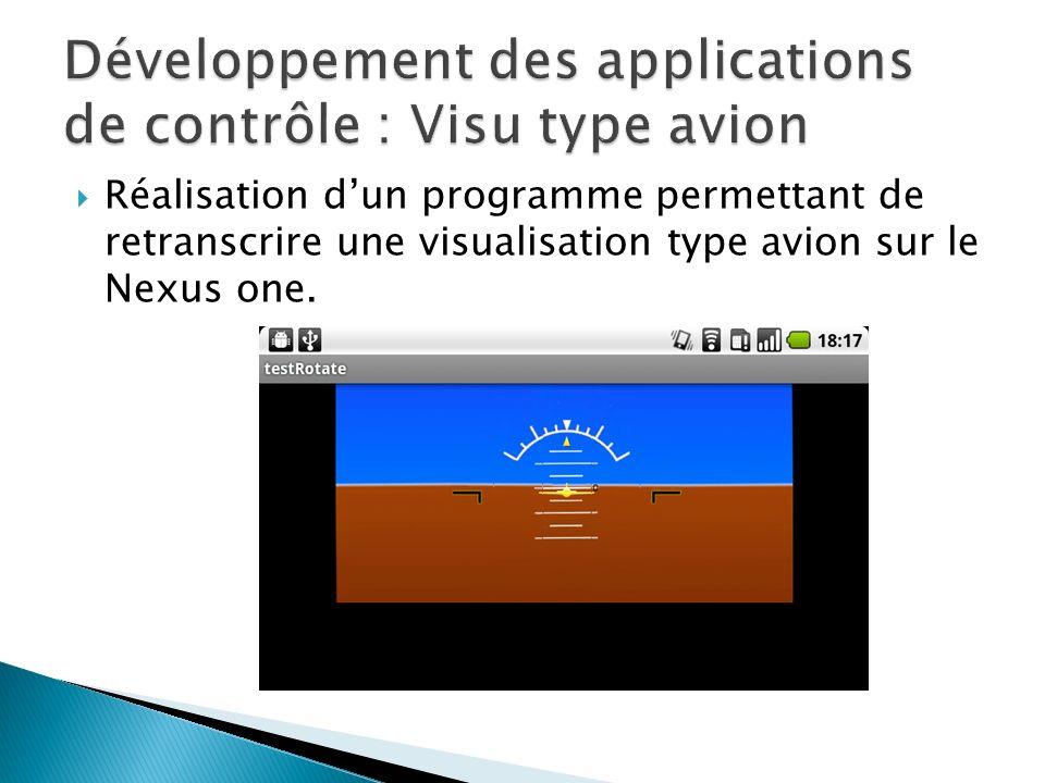 Réalisation dun programme permettant de retranscrire une visualisation type avion sur le Nexus one.