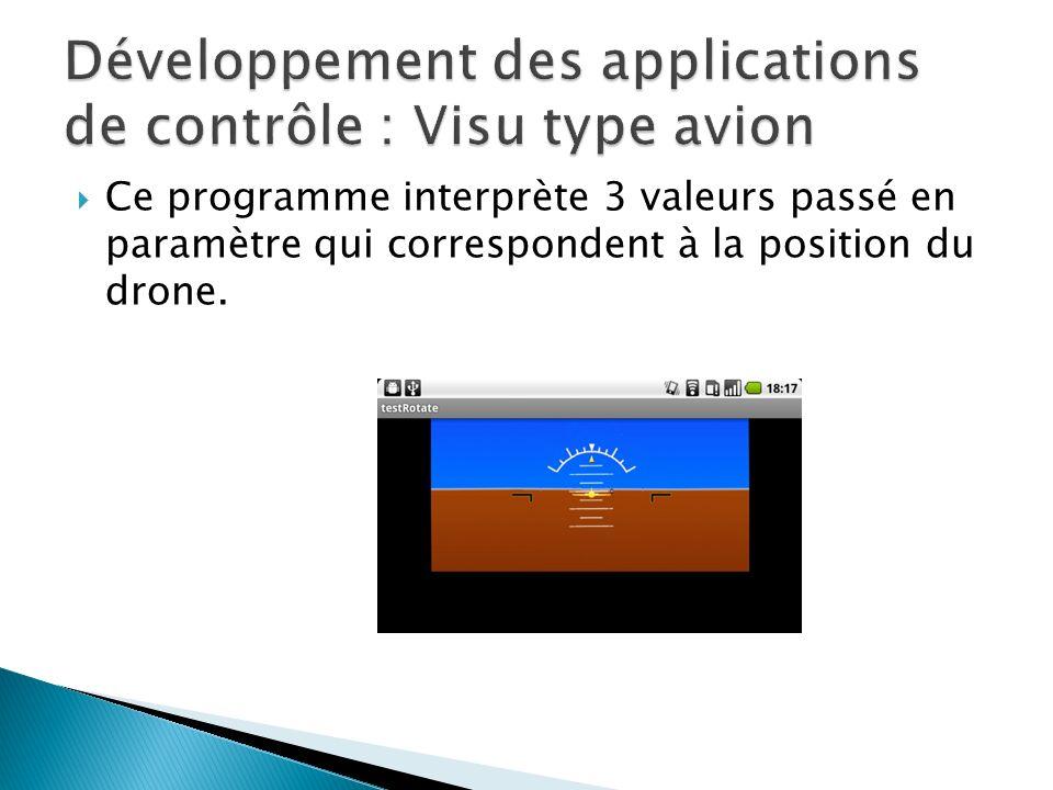 Ce programme interprète 3 valeurs passé en paramètre qui correspondent à la position du drone.