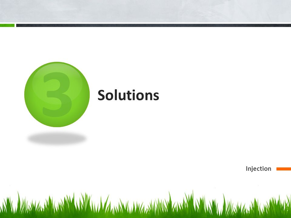 3 Solutions Injection
