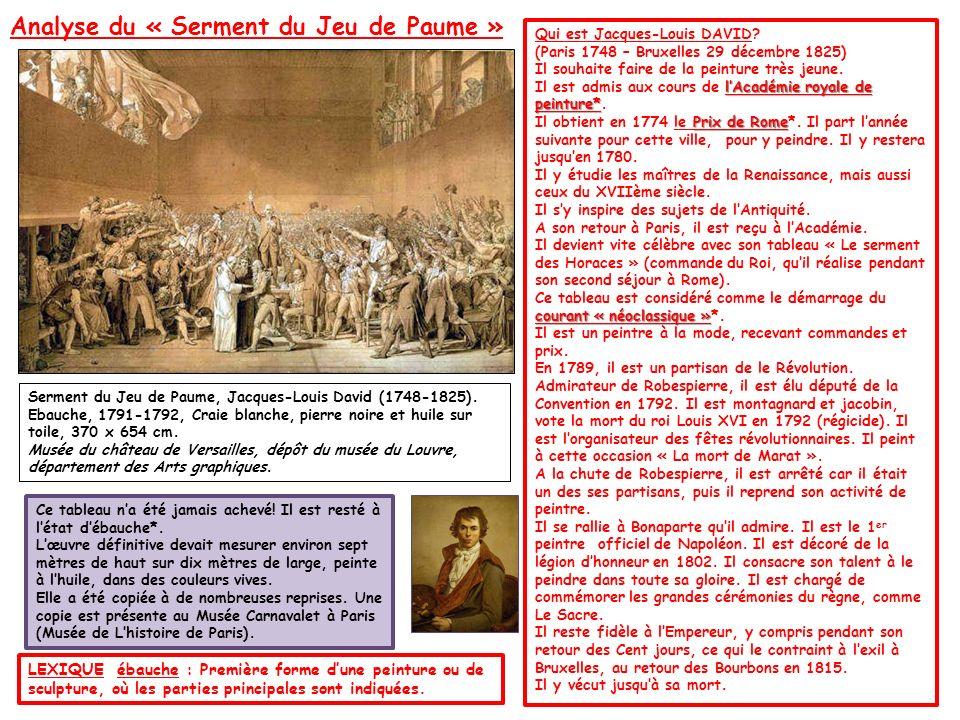 Analyse : « Le sacre de Napoléon » Le sacre de Napoléon, Jacques-Louis DAVID (1748-1825), 1805-1807, huile sur toile, 621 x 979 cm.