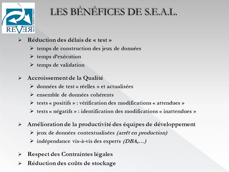 LES BÉNÉFICES DE S.E.A.L.