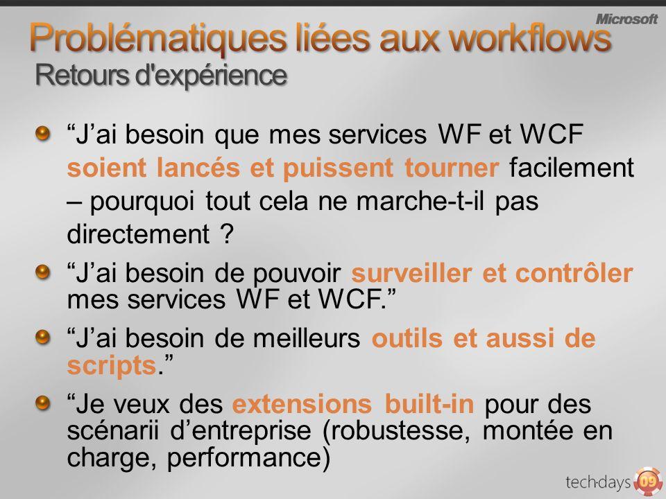 Jai besoin que mes services WF et WCF soient lancés et puissent tourner facilement – pourquoi tout cela ne marche-t-il pas directement ? Jai besoin de