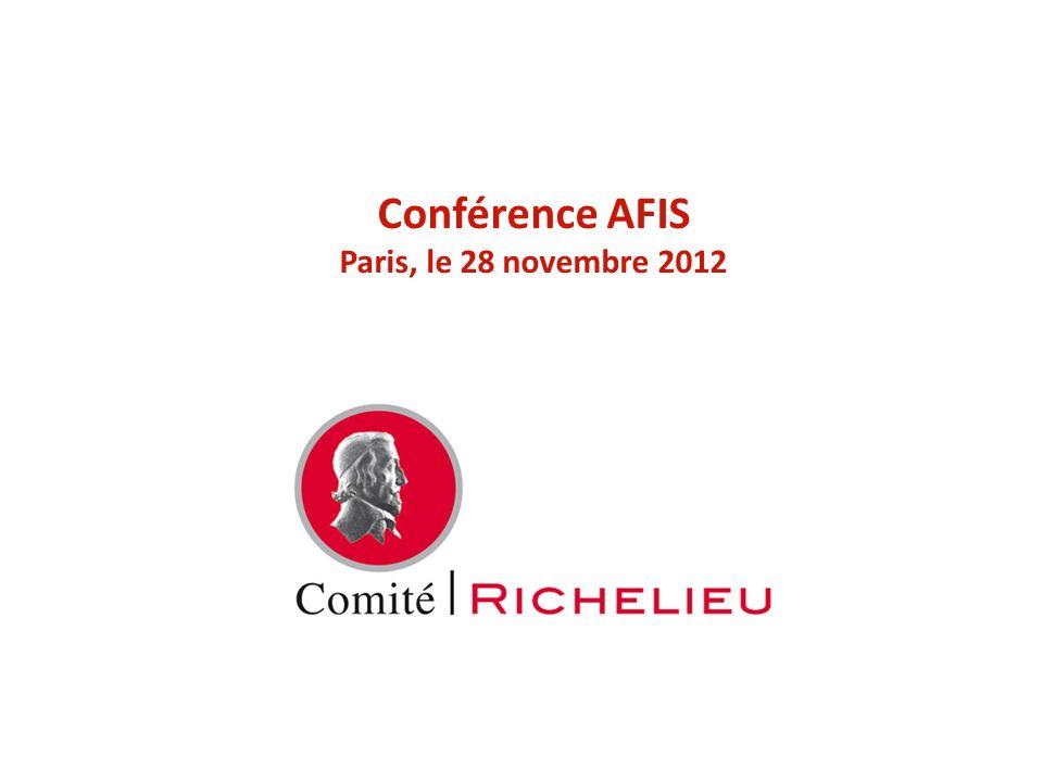 Conférence AFIS Paris, le 28 novembre 2012