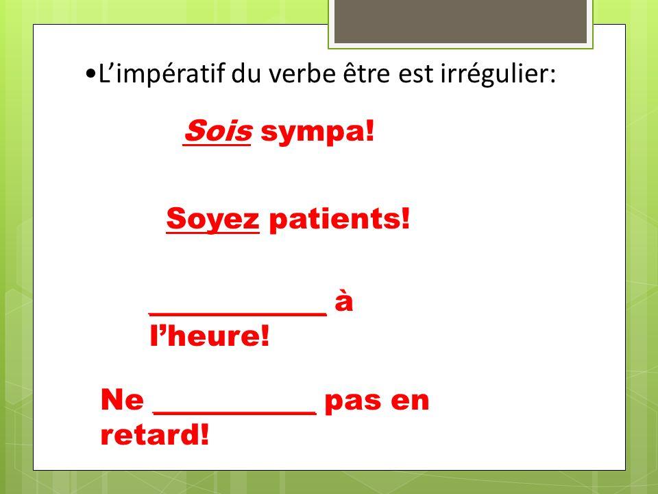 Avec limpératif négatif des verbes réfléchis, mettez le pronom avant le verbe: Ne vous inquiétez pas.