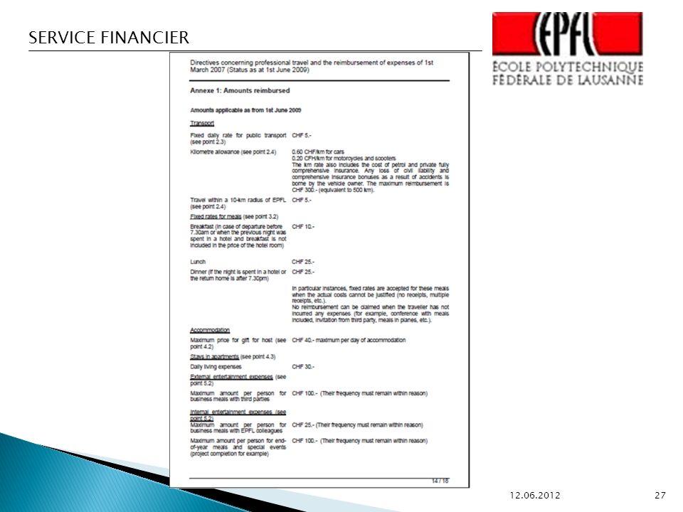SERVICE FINANCIER 12.06.2012 27