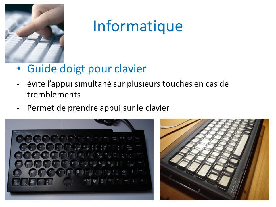 Informatique Guide doigt pour clavier -évite lappui simultané sur plusieurs touches en cas de tremblements -Permet de prendre appui sur le clavier