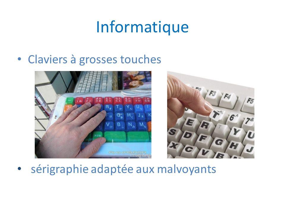 Informatique Claviers à grosses touches sérigraphie adaptée aux malvoyants