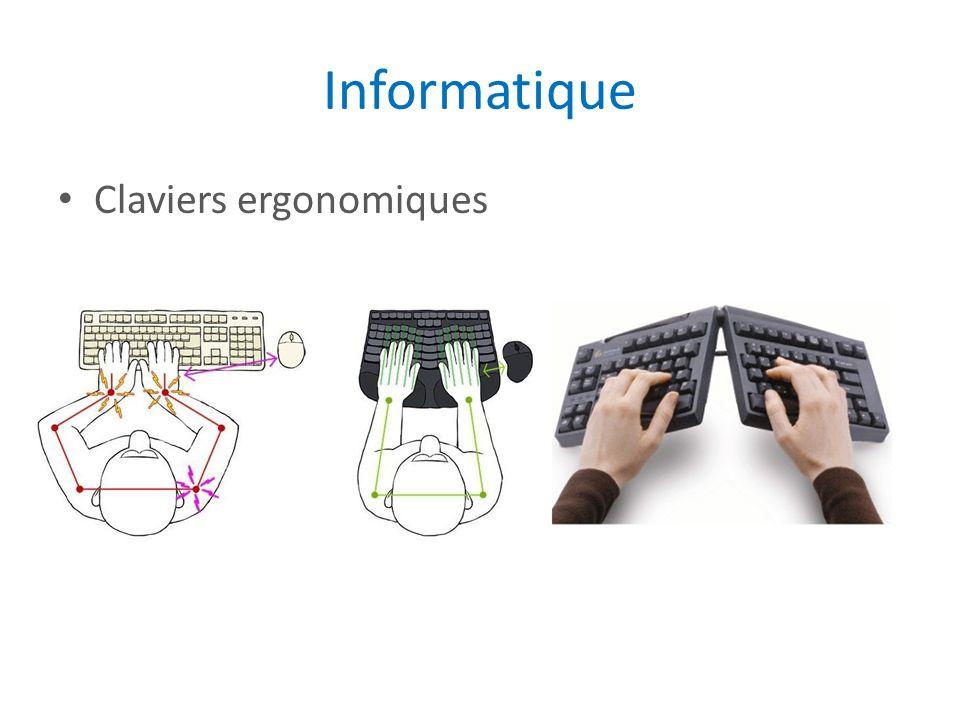 Informatique Claviers ergonomiques