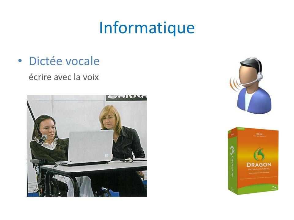 Informatique Dictée vocale écrire avec la voix