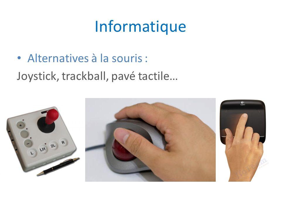 Informatique Alternatives à la souris : Joystick, trackball, pavé tactile…
