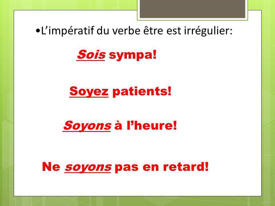 Avec limpératif négatif des verbes réfléchis, mettez le pronom avant le verbe: Ne vous inquiétez pas! Ne te couches pas trop tard! (vous) se réveiller
