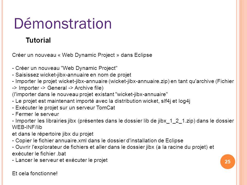 Démonstration 25 Créer un nouveau « Web Dynamic Project » dans Eclipse - Créer un nouveau