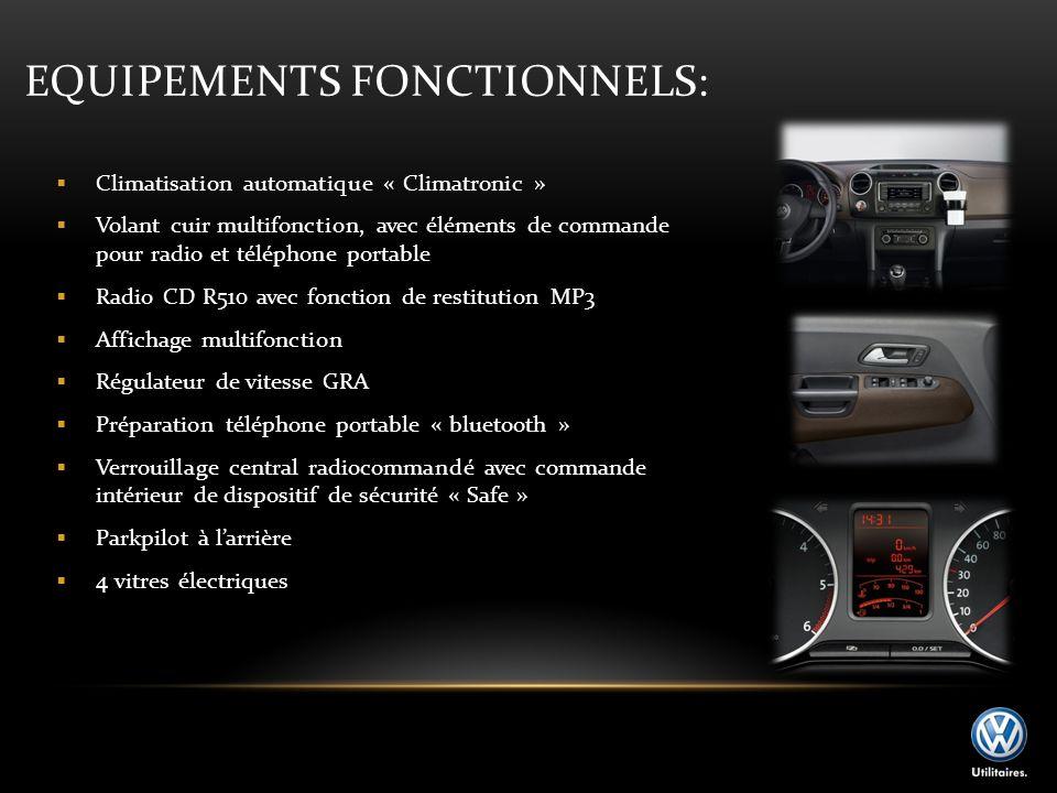 EQUIPEMENTS FONCTIONNELS: Climatisation automatique « Climatronic » Volant cuir multifonction, avec éléments de commande pour radio et téléphone porta