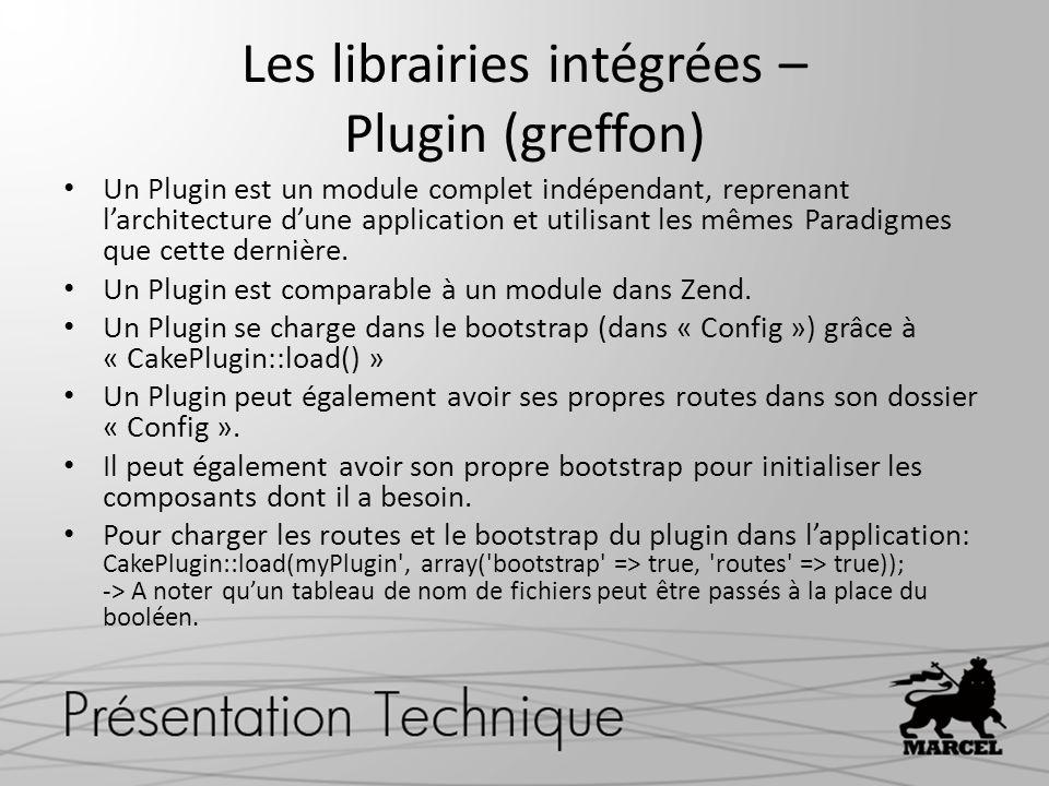 Un Plugin est un module complet indépendant, reprenant larchitecture dune application et utilisant les mêmes Paradigmes que cette dernière. Un Plugin