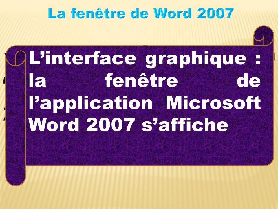 Lancer lapplication Microsoft Office Word 2007 Résultat.