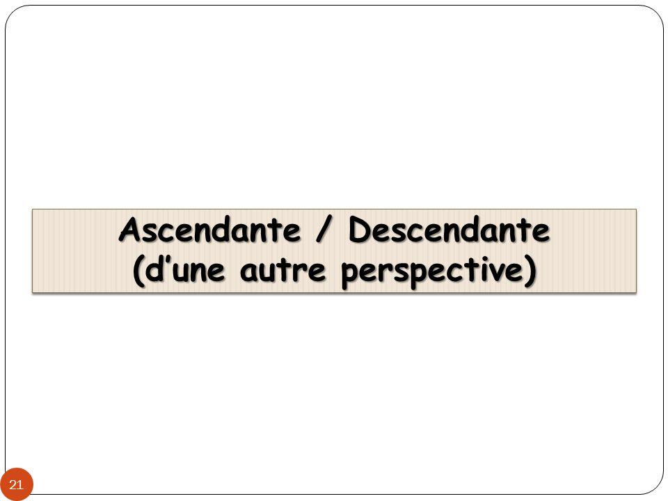 Ascendante / Descendante (dune autre perspective) 21