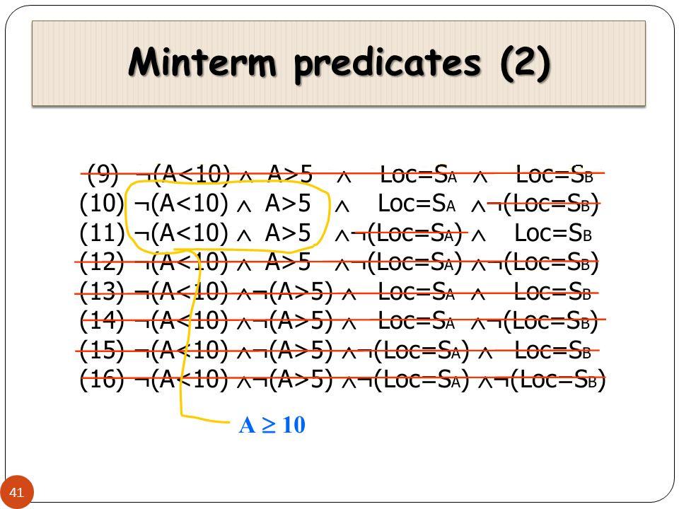 Minterm predicates (2) 41