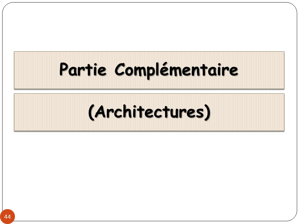 Client/Serveur (1) 45 Modèle d architecture applicative où les programmes sont répartis entre processus clients et serveurs communiquant par des requêtes avec réponses.