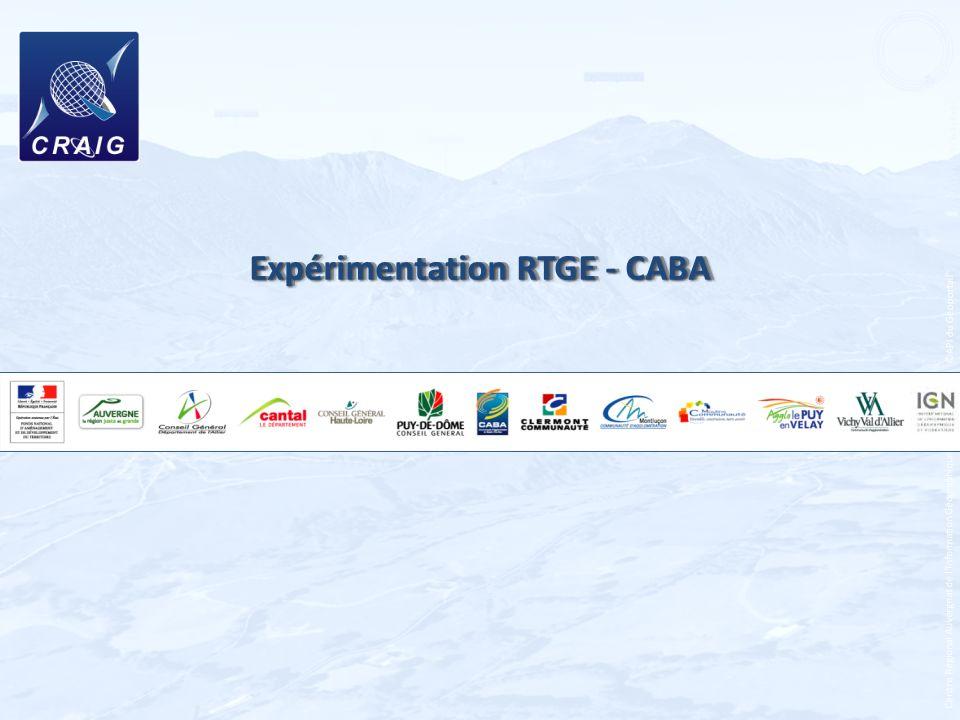 Centre Régional Auvergnat de lInformation Géographique - 2012 Expérimentation RTGE - CABA ©API du Géoportail