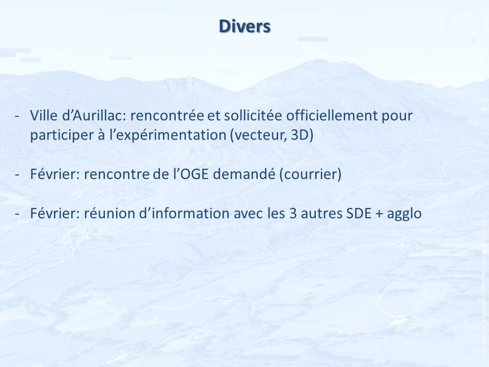 Centre Régional Auvergnat de lInformation Géographique - 2012 Divers -Ville dAurillac: rencontrée et sollicitée officiellement pour participer à lexpé
