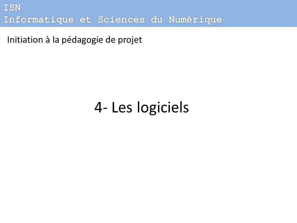 Initiation à la pédagogie de projet 4- Les logiciels