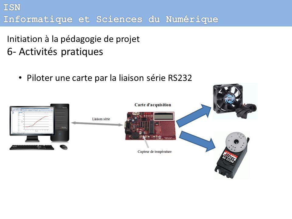 Initiation à la pédagogie de projet 6- Activités pratiques Piloter une carte par la liaison série RS232