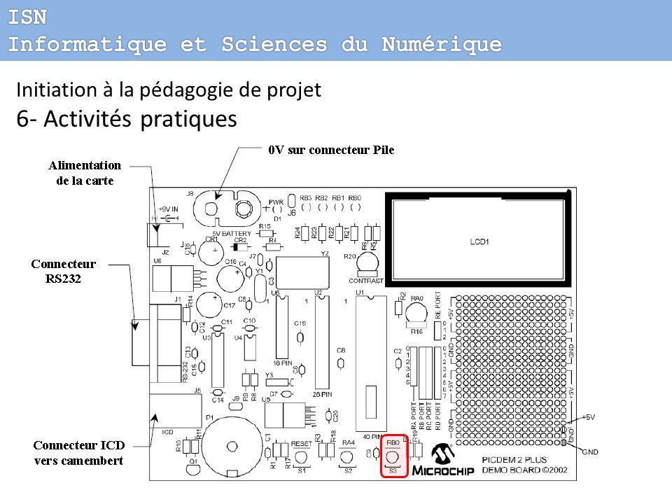 Initiation à la pédagogie de projet 6- Activités pratiques Commande Tout Ou Rien (TOR) Programmer une commande TOR Définir le sens de transmission en