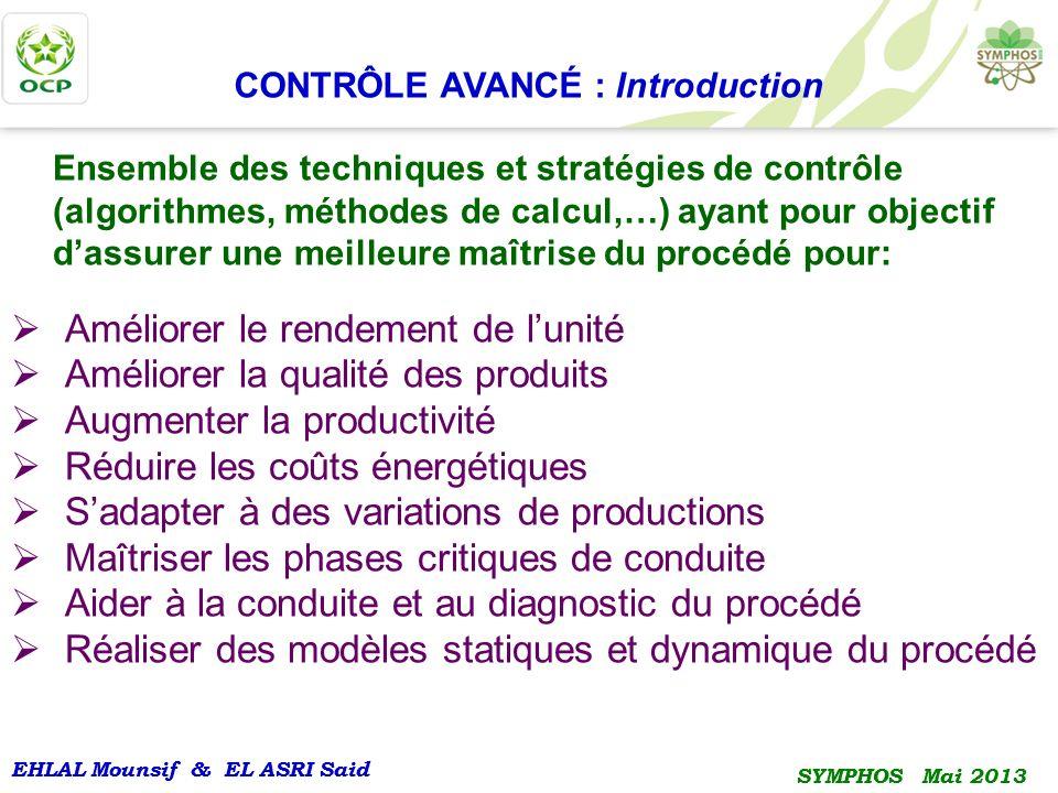 EHLAL Mounsif & EL ASRI Said SYMPHOS Mai 2013 EHLAL Mounsif & EL ASRI Said SYMPHOS Mai 2013 CONTRÔLE AVANCÉ : Introduction Ensemble des techniques et