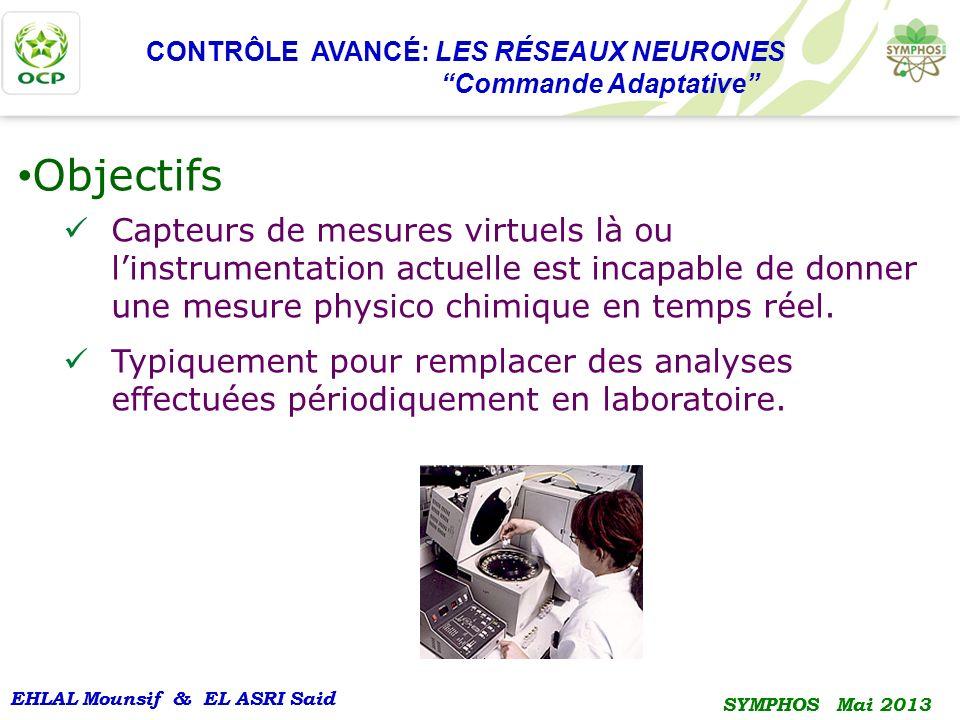 EHLAL Mounsif & EL ASRI Said SYMPHOS Mai 2013 EHLAL Mounsif & EL ASRI Said SYMPHOS Mai 2013 CONTRÔLE AVANCÉ: LES RÉSEAUX NEURONES Commande Adaptative