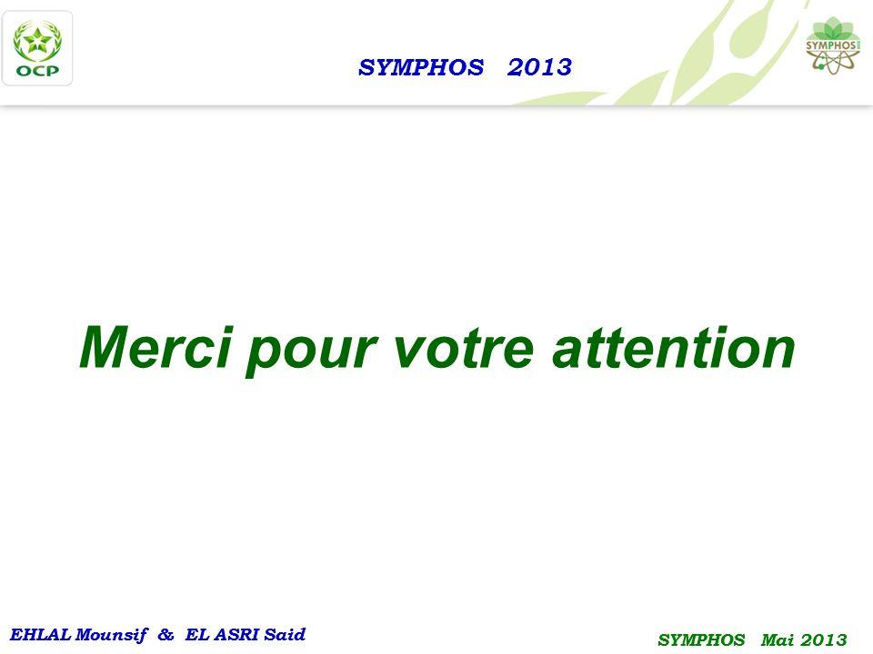 EHLAL Mounsif & EL ASRI Said SYMPHOS Mai 2013 EHLAL Mounsif & EL ASRI Said SYMPHOS Mai 2013 SYMPHOS 2013 Merci pour votre attention