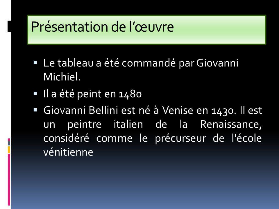 Cest dans latelier paternel que Giovanni apprend son métier de peintre.