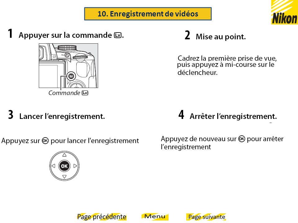 10. Enregistrement de vidéos