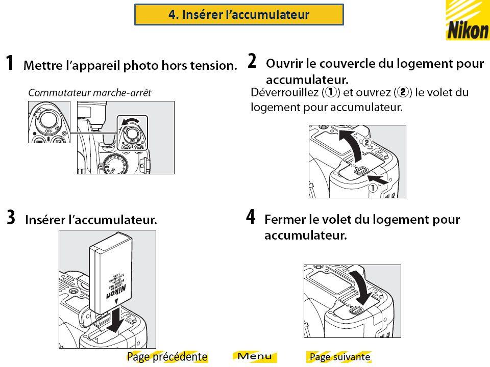 4. Insérer laccumulateur